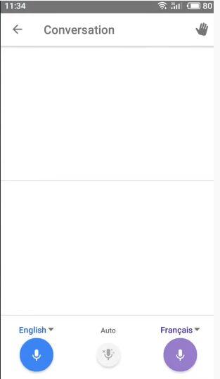 Google Translation Conversation option