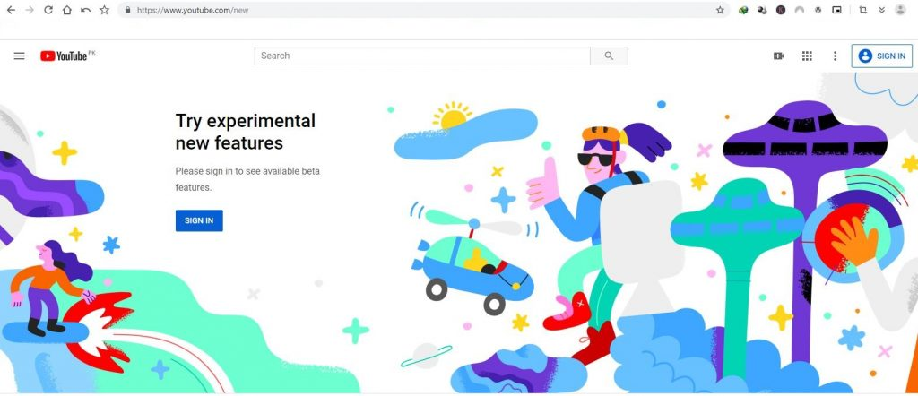 YouTube hidden pages for Testing and Experiments